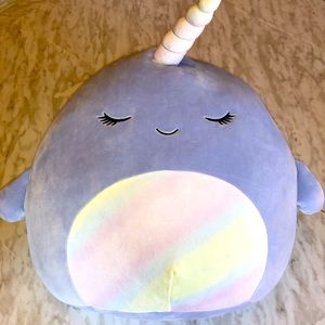 """NWT 16"""" Naomi Narwhal Squishmallow"""